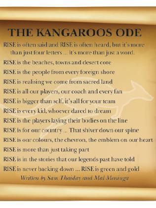 The Kangaroos Ode